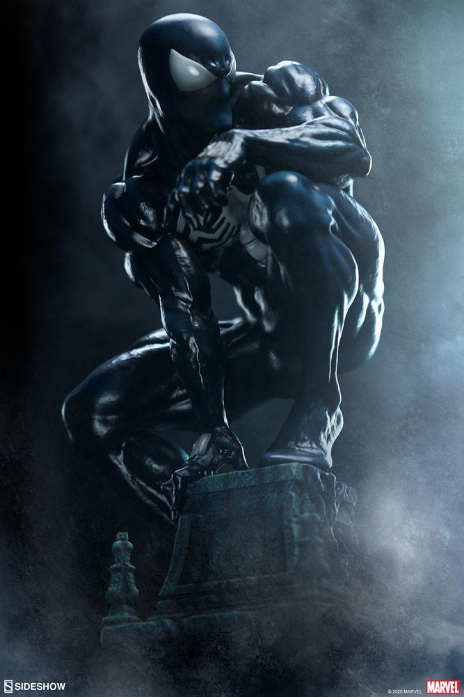 Sideshow MARVEL【共生體蜘蛛人】全身雕像!漆黑蜘蛛人魄力現身