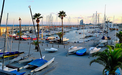port puerto harbor sea mar water waterfront boat sun sunset atardecer puestadelsol sky cielo cloud clouds color colour colores colours colors construction building architecture tree palmtree shadow shadows car coche vehicle walk caminar paseo passeig outside outdoor outdoors