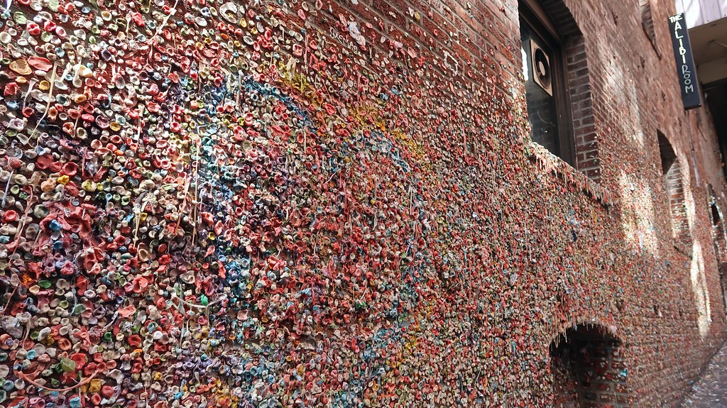 Gum Wall in Seattle, WA