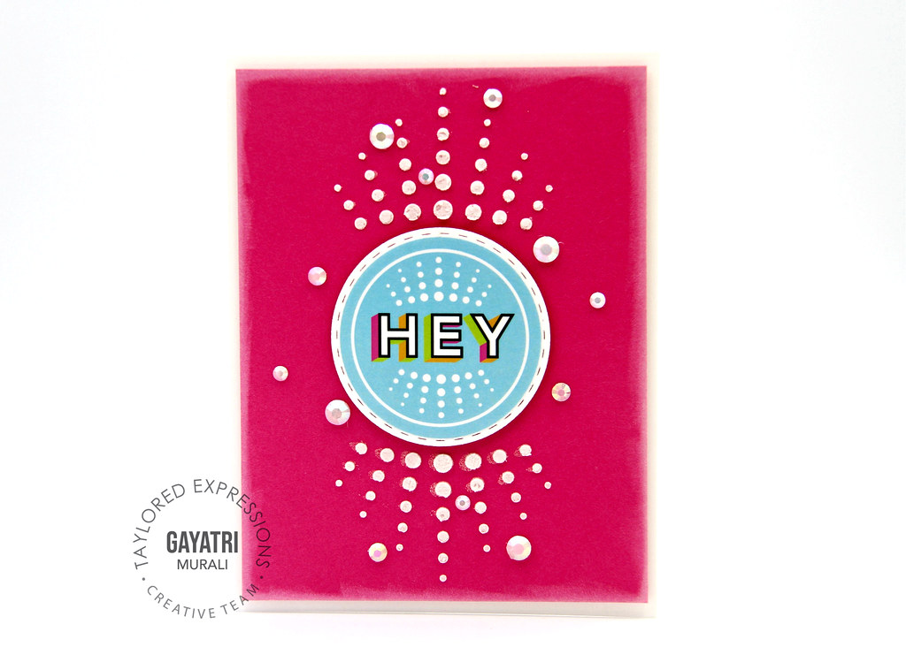 Hey pink card