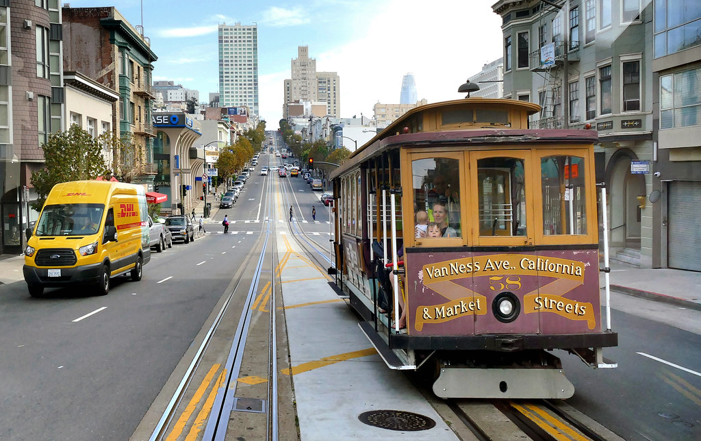 Van Ness Ave Cable Car.