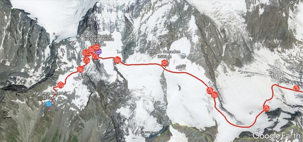Plateau Couloir, Day4 H.R.Chamonix-Zermatt Walliser Alpen / Alpes valaisannes Schweiz foto 02