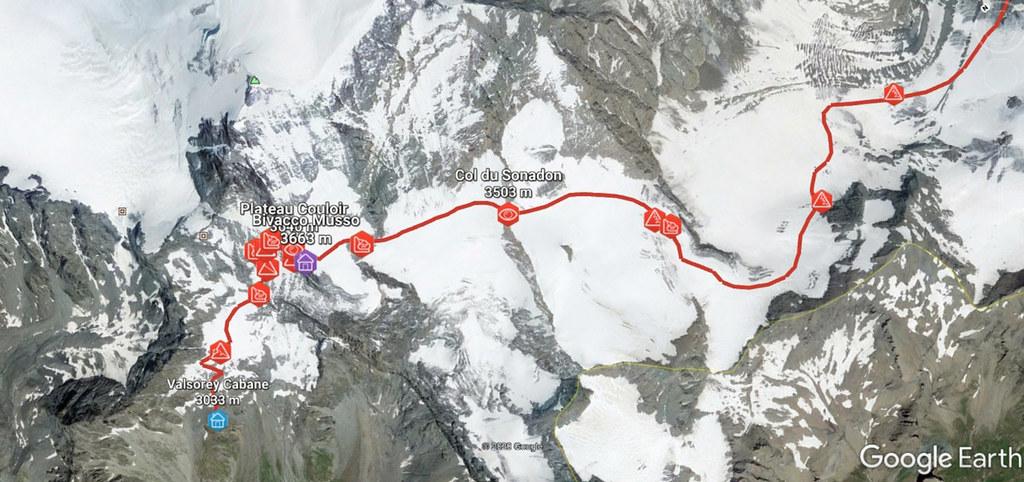 Plateau Couloir, Day4 H.R.Chamonix-Zermatt Walliser Alpen / Alpes valaisannes Schweiz foto 01