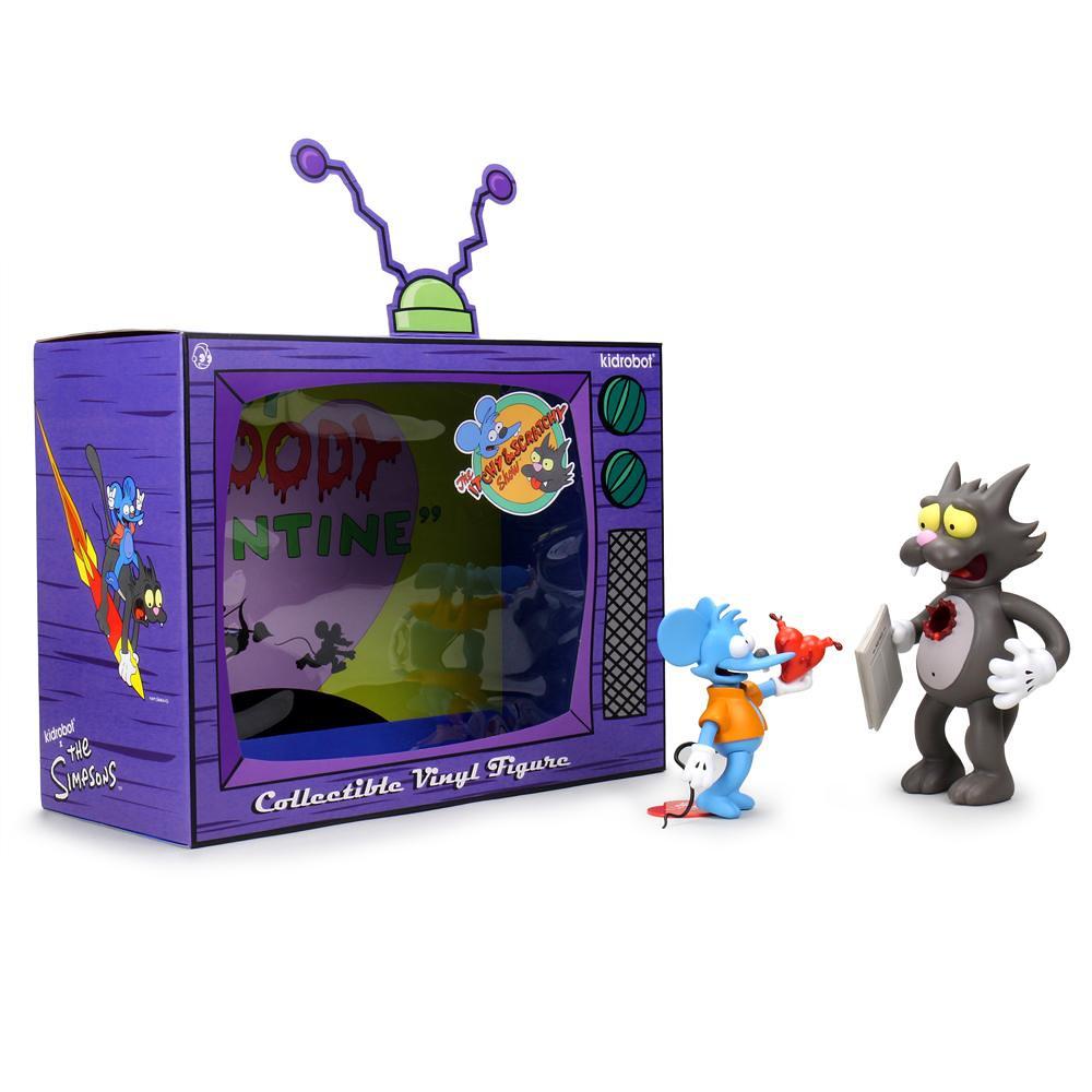 Kidrobot《辛普森家庭》躺姆貓與揭力鼠 搪膠人偶!把你的心送給你~