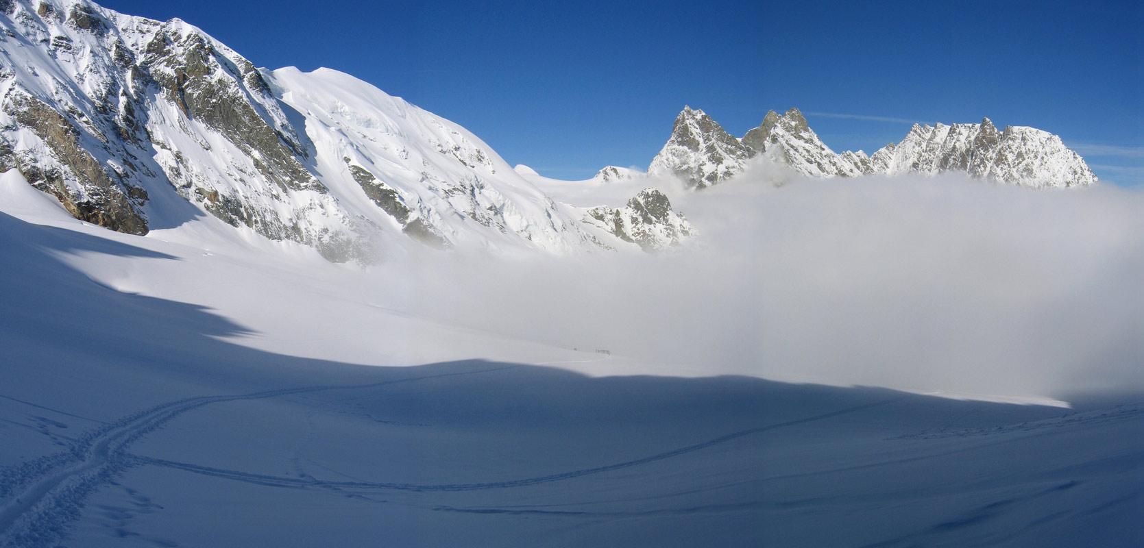 Col Valpelline, Day 6 H.R. Chamonix-Zermatt Walliser Alpen / Alpes valaisannes Švýcarsko panorama 38