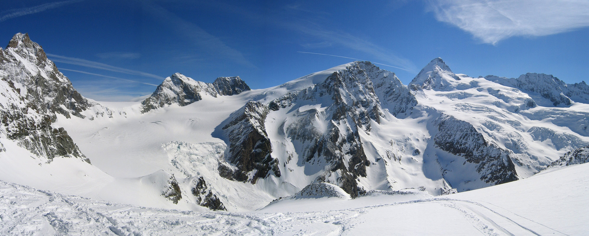 Col Valpelline, Day 6 H.R. Chamonix-Zermatt Walliser Alpen / Alpes valaisannes Švýcarsko panorama 40