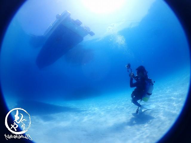 船の下でしばらく撮影大会☆彡