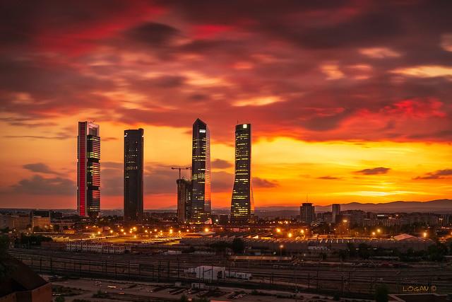 4 Towers IX.  Warm sunset.