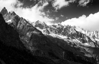 Mont Blanc Massif from Val Veny