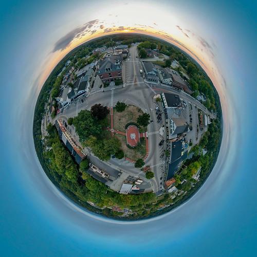 mavic2pro milford milfordoval newengland newhampshire sethjdeweyphotography aerial dawn drone sunrise