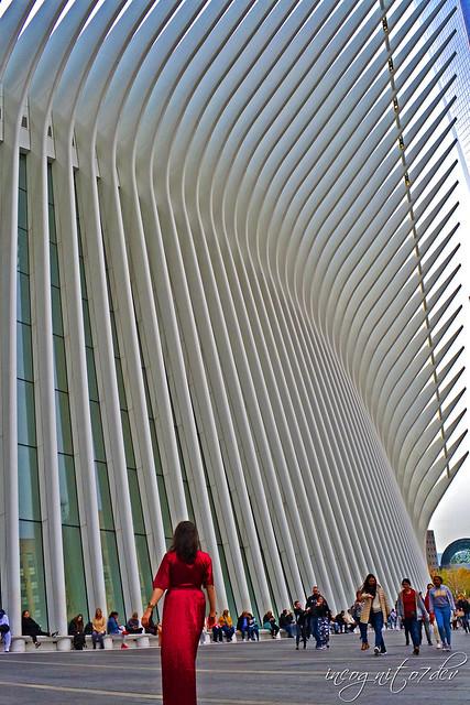 Me & The Oculus World Trade Center WTC Lower Manhattan New York City NY P00643 DSC_2707
