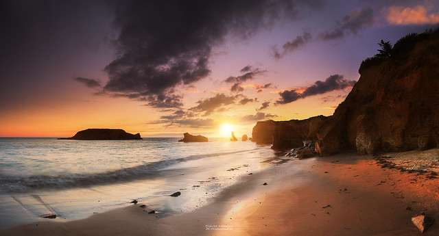 Sunset sur la plage Les Iles à Pénestin