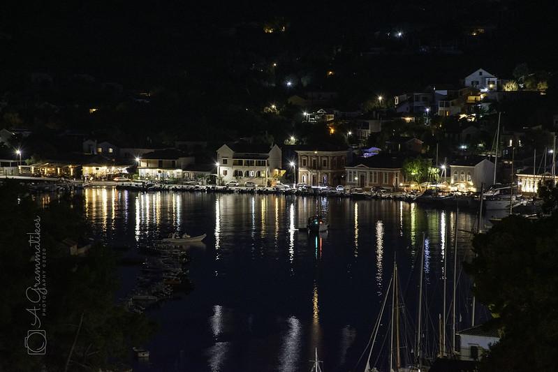 Night at Gaios, Paxos, Greece