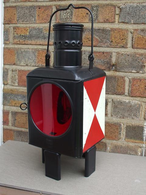 Vintage DB Deutsche Bahn West  German Railway Signal Lamp / Lantern