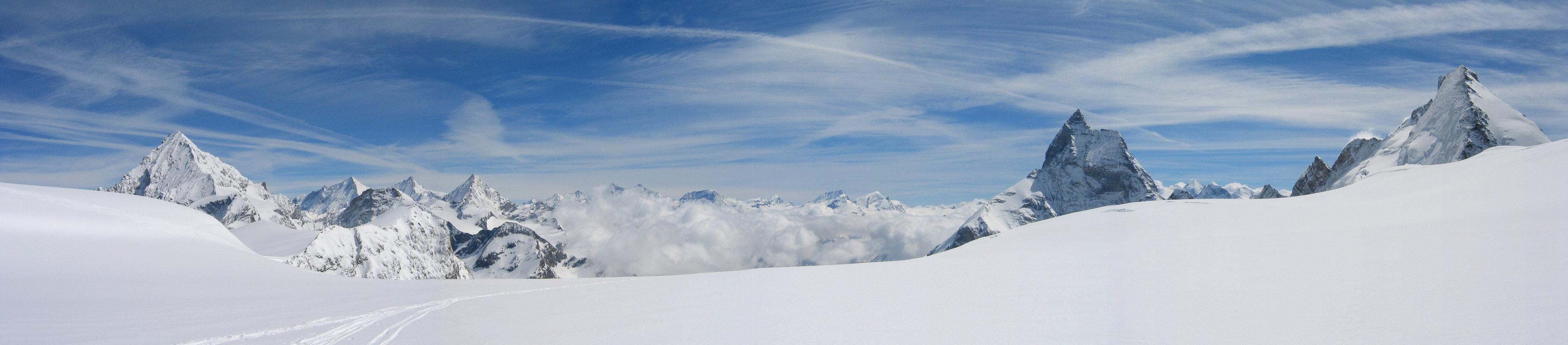 Col Valpelline, Day 6 H.R. Chamonix-Zermatt Walliser Alpen / Alpes valaisannes Švýcarsko panorama 52