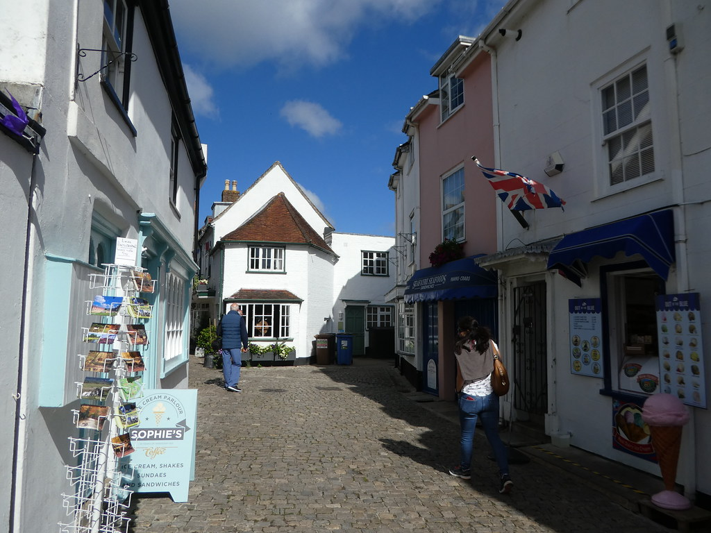 Quaint cottages surrounding Lymington Quay