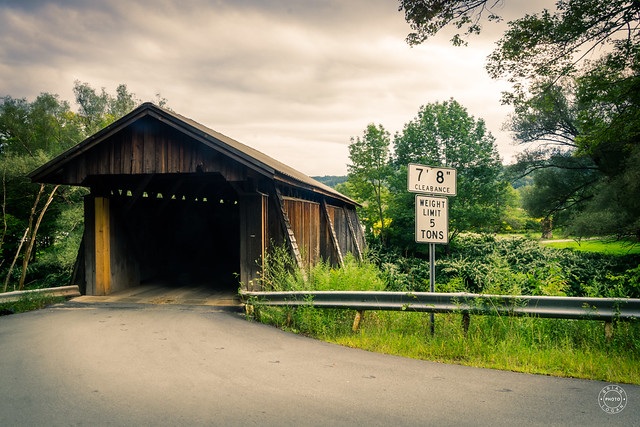Summer Evening at the Covered Bridge