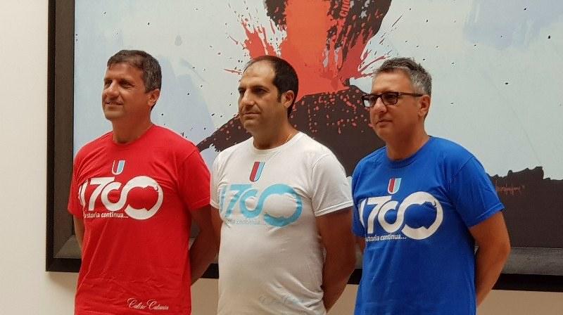 Ferraù, Nicolosi e La Ferlita con le magliette 11700