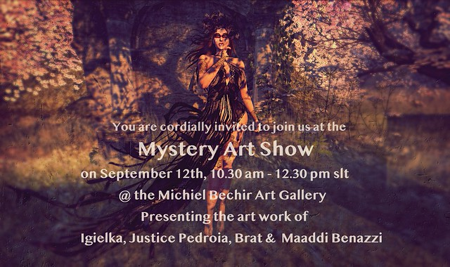 Mystery Art Show: Opening Sept. 12th, 10.30 am