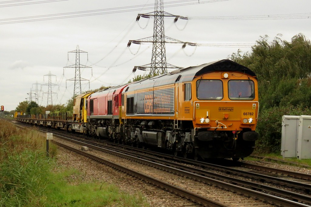 66782 and 66185 Hoo Junction