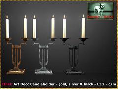 Bliensen - Ethel - Art Deco Candleholder