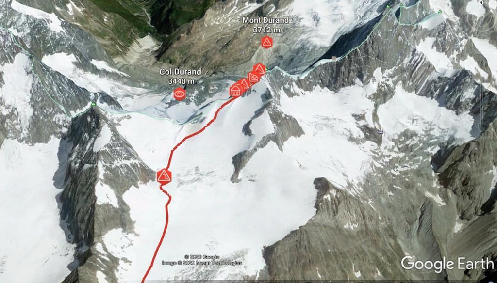 Mont Durand / Arbenhorn Walliser Alpen / Alpes valaisannes Schweiz foto 02
