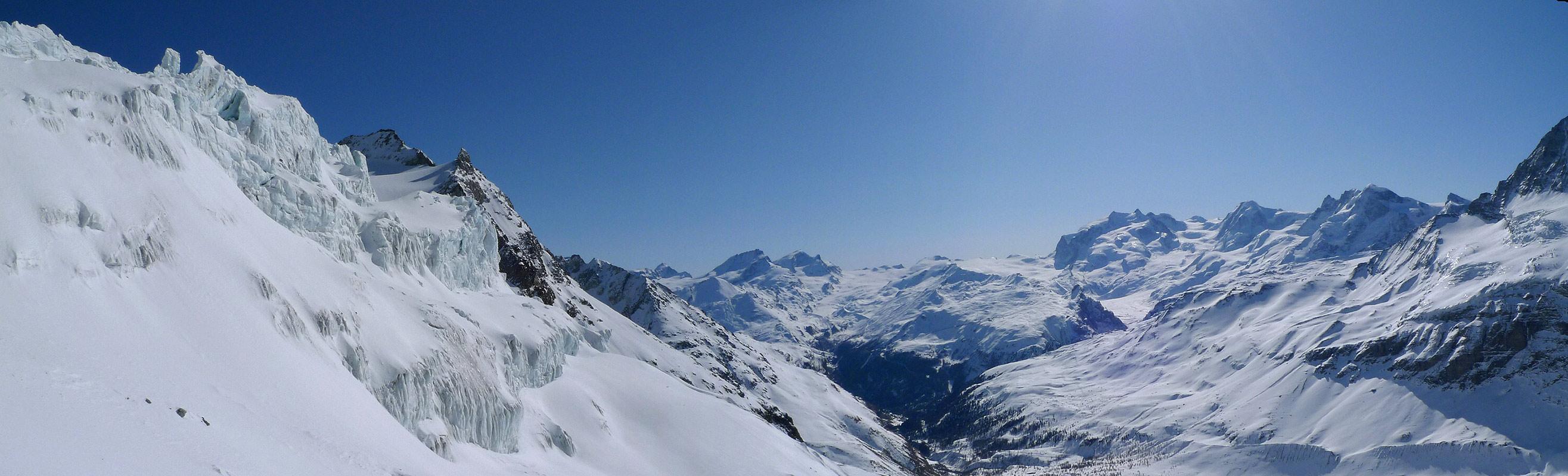 Mont Durand / Arbenhorn Walliser Alpen / Alpes valaisannes Schweiz panorama 33