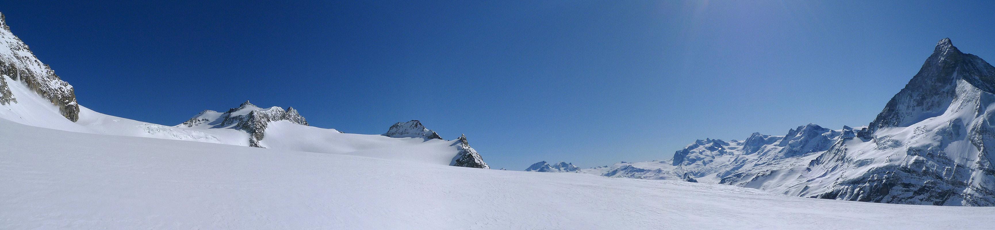 Mont Durand / Arbenhorn Walliser Alpen / Alpes valaisannes Schweiz panorama 45