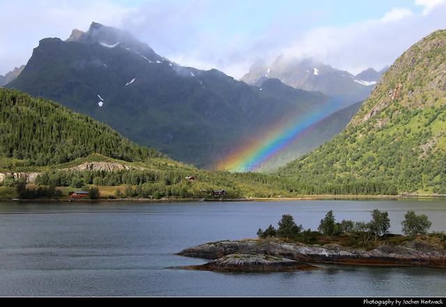 Rainbow, Hinnøya, Lofoten, Norway