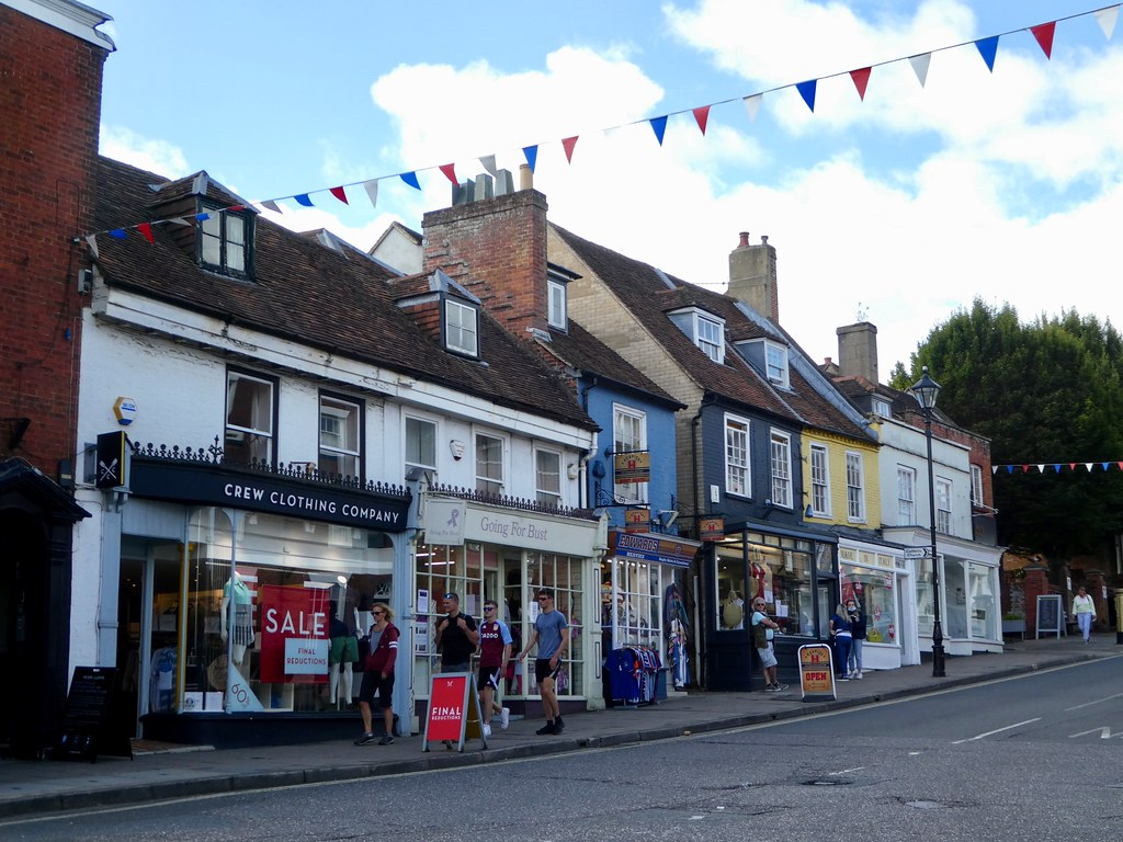 Shops along Lymington High Street