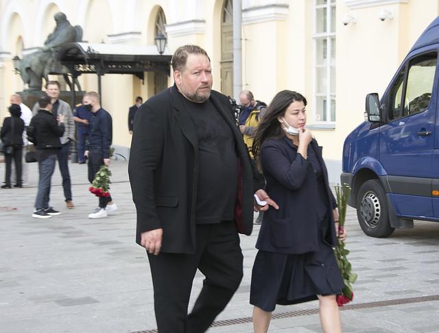 Прощание с актером Борисом Клюевым