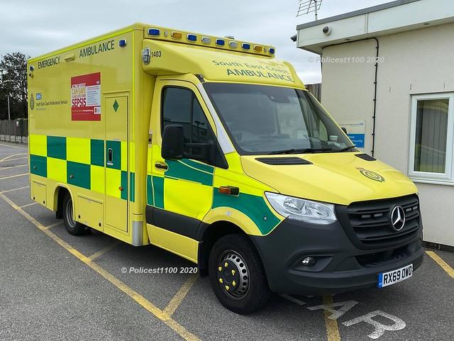 Secamb MB Sprinter DCA Ambulance RX69 OWO 1403