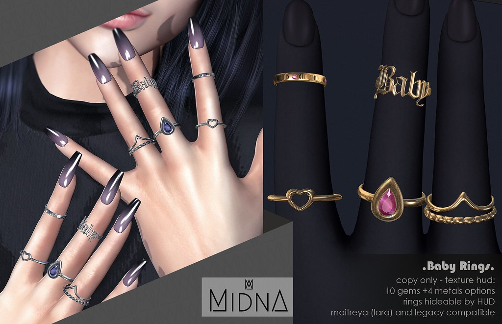 Midna - Baby Rings