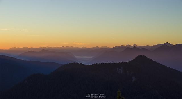 Dawn over the bavarian pre-alps