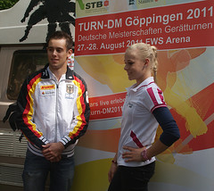 Sebastian Krimmer and Pia Tolle, artistic gym pros