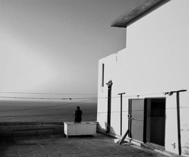 Seul et l'horizon