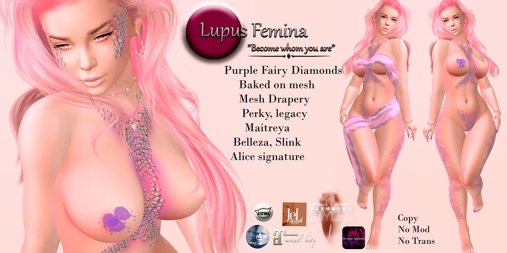 """Lupus Femina"" Purple Diamond Fairy"