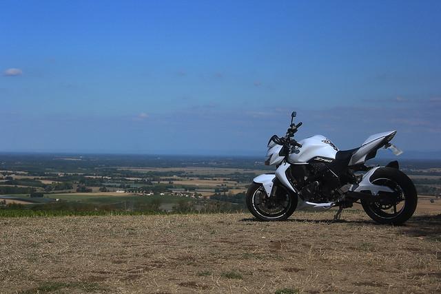 Moto à Burgy