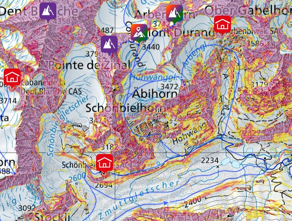 Mont Durand / Arbenhorn Walliser Alpen / Alpes valaisannes Schweiz foto 04