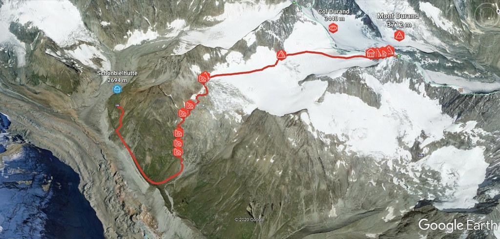 Mont Durand / Arbenhorn Walliser Alpen / Alpes valaisannes Schweiz foto 01