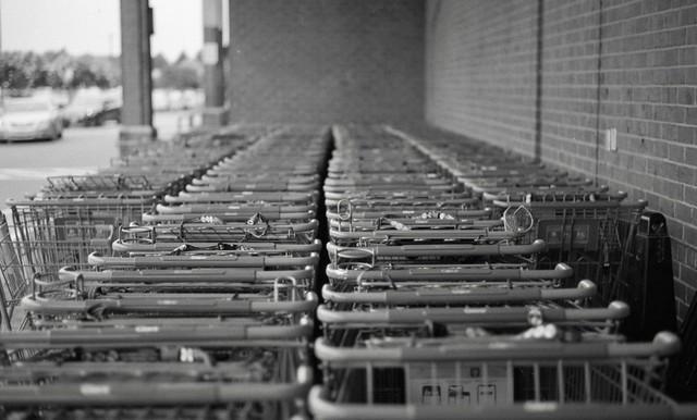 Layered shopping carts