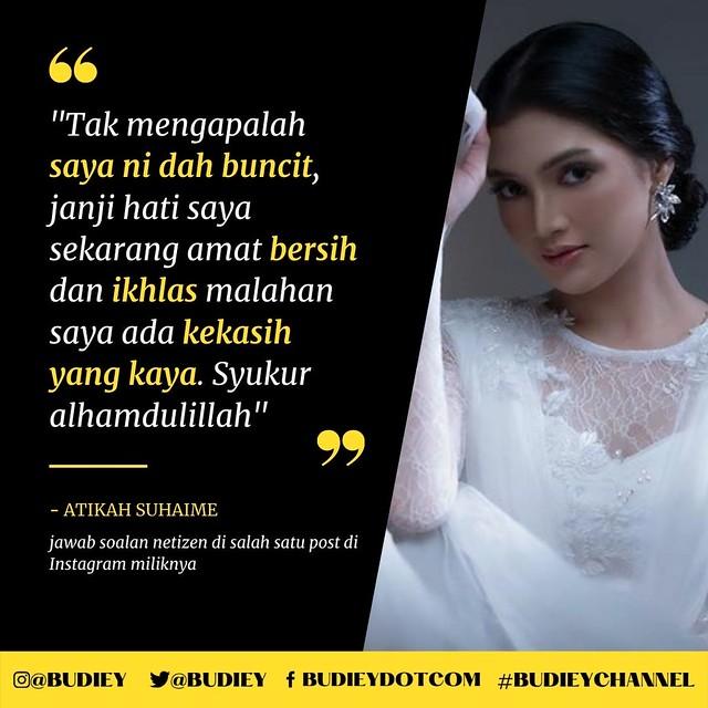 """""""Takpe Saya Buncit, Janji Boyfriend Kaya,"""" - Atikah Suhaime"""