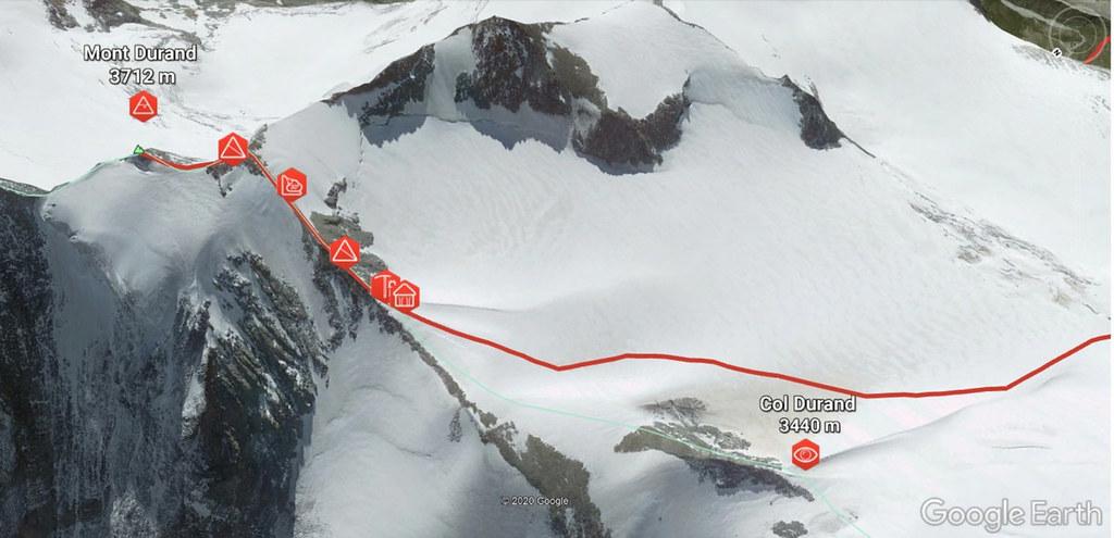 Mont Durand / Arbenhorn Walliser Alpen / Alpes valaisannes Schweiz foto 03