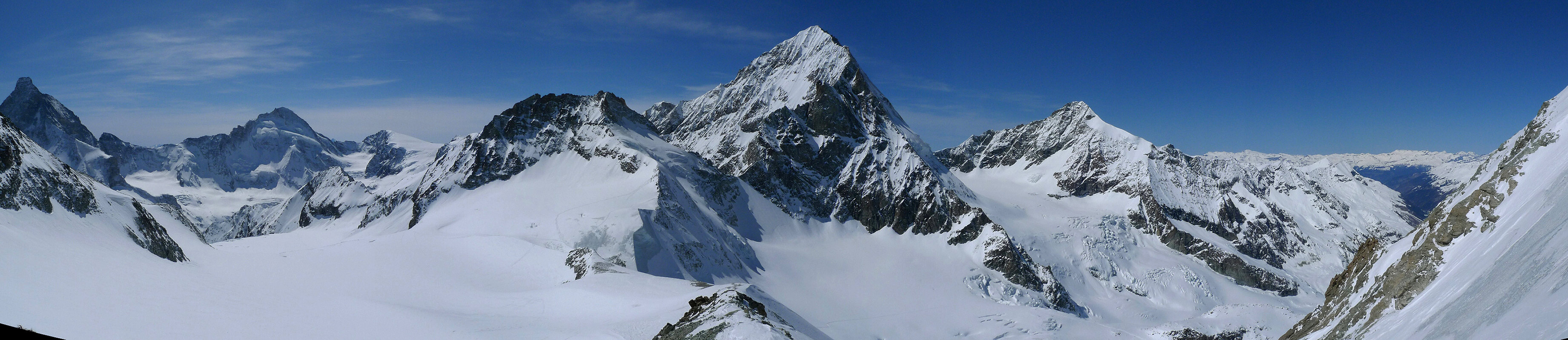 Mont Durand / Arbenhorn Walliser Alpen / Alpes valaisannes Schweiz panorama 48