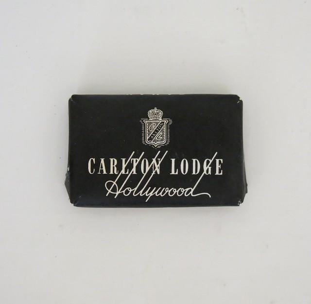 Vintage Travel Guest Soap - Carlton Lodge - Hollywood, California