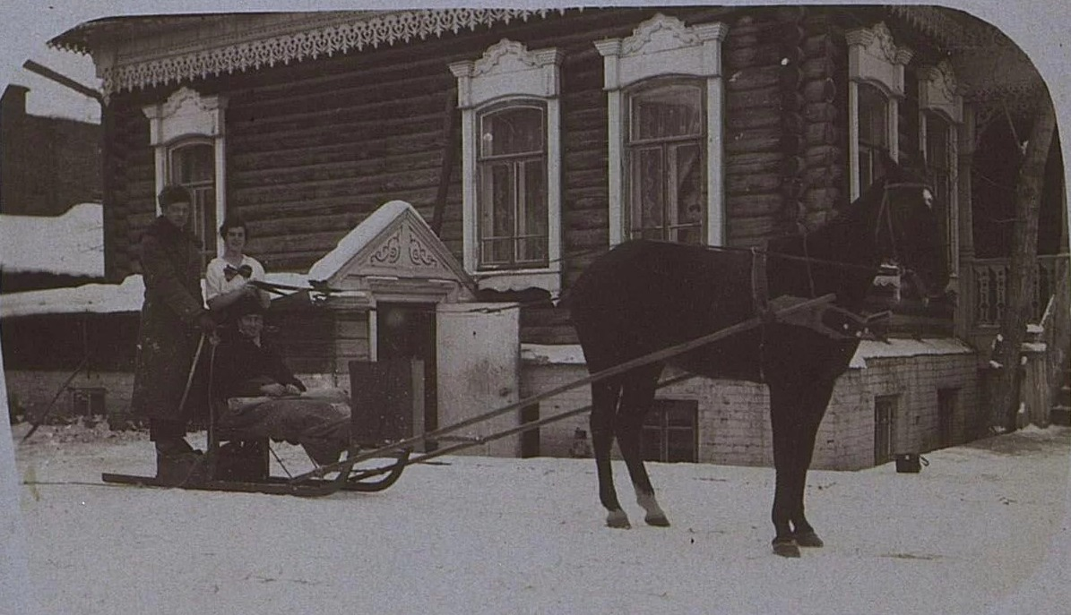 Новониколаевск. Зима 1918-19 гг. Служащие русско-азиатской компании