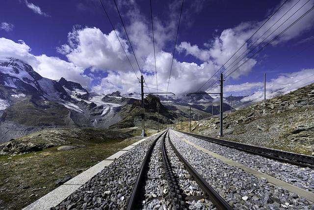 Railway to Gornergrat - Zermatt - Wallis - Switzerland