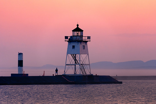 Grand Marais Lighthouse Sunset