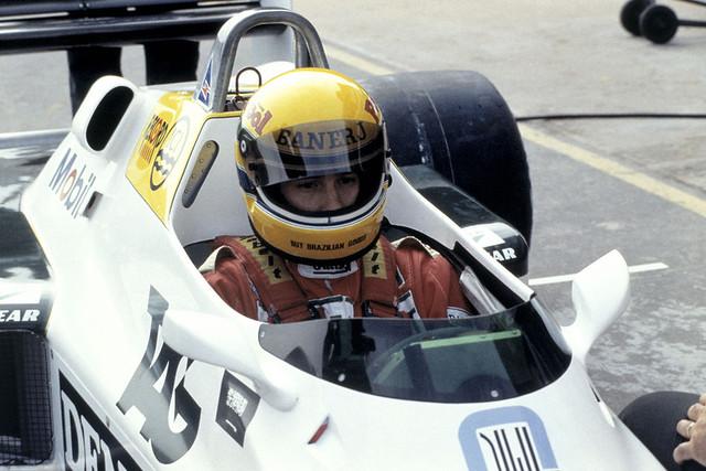 1983 Formula 1 Testing. Ayrton Senna (Williams FW08C-Ford Cosworth)