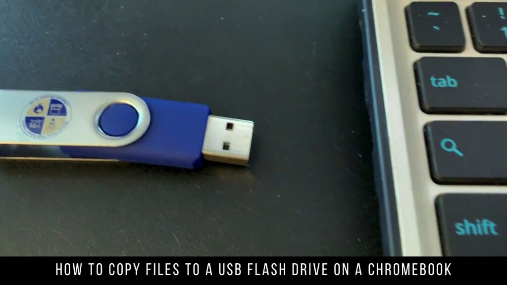 How to copy files to a USB flash drive on a Chromebook
